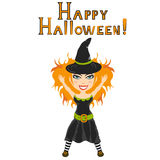 Vector halloween witch Stock Image