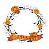 Vector Halloween wreath 1 Stock Images