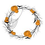 Vector Halloween wreath Royalty Free Stock Photo