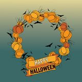 Vector Halloween wreath 5 Royalty Free Stock Photo