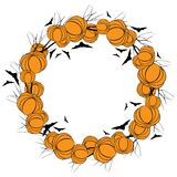 Vector Halloween wreath 4 Stock Images