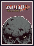 Vector Halloween zombie party banner Stock Photography