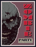 Vector Halloween zombie party banner Stock Photo
