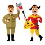 Vector Halloween Zombies Cartoon Illustration. Royalty Free Stock Images