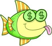 Vector hambriento de los pescados del dinero stock de ilustración