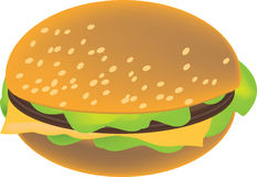 Vector hamburger clipart image Royalty Free Stock Images