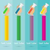 Vector hand arm illustration set test tube background icon Stock Images