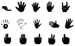Vector hand. Vector arms, showing different gestures Royalty Free Stock Image