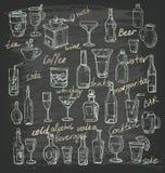 Vector hand beverages Stock Photos