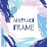 Vector hand draw abstract background frame. Illustration art Royalty Free Stock Photos