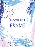 Vector hand draw abstract background frame. Illustration art Stock Photography