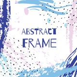 Vector hand draw abstract background frame. Illustration art Stock Photo