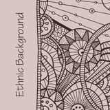 Vector hand draw ethnic background. Vector hand drawing doddle ethnic pattern. Background with geometric elements. Eps10 Royalty Free Stock Photography