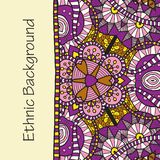 Vector hand draw ethnic background. Vector hand drawing doddle ethnic pattern. Background with geometric elements. Eps10 Royalty Free Stock Photos