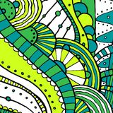 Vector hand draw ethnic background. Vector hand drawing doddle ethnic pattern. Background with geometric elements. Eps10 Royalty Free Stock Images