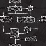 Vector hand draw flowchart seamless background Royalty Free Stock Photos