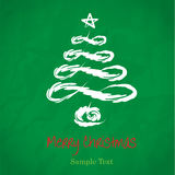 Vector hand drawing Christmas Tree royalty free stock photography