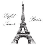 Vector hand drawing illustration Eiffel tower Stock Image