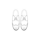 Vector hand drawing illustration with men fashion shoes. Royalty Free Stock Images