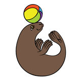 Vector hand drawing seal Royalty Free Stock Images