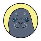 Vector hand drawing seal Royalty Free Stock Photo