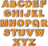 Vector hand drawn ABC letters Royalty Free Stock Photos