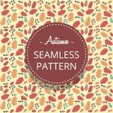 Vector hand drawn abstract autumn leaf seamless pattern template. Vector hand drawn abstract autumn maple leaf seamless motive pattern template stock illustration