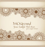 Vector hand-drawn abstract flowers pattern Royalty Free Stock Photo