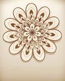 Vector hand-drawn abstract flowers pattern Royalty Free Stock Image