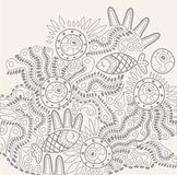 Vector hand-drawn abstraction Royalty Free Stock Images