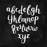 Vector Hand Drawn Alphabet. On chalkboard. Ink Letters, abc Royalty Free Stock Images
