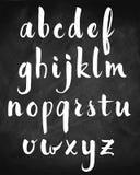 Vector hand drawn alphabet on chalkboard Royalty Free Stock Photos