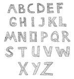 Vector hand drawn alphabet Royalty Free Stock Photos