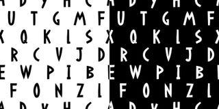 Vector hand drawn alphabet seamless pattern. Lettering design. Latin letters background. Vector hand drawn alphabet seamless pattern. Latin letters background stock illustration