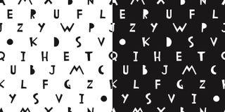 Vector hand drawn alphabet seamless pattern. Lettering design. L. Vector hand drawn alphabet seamless pattern. Latin letters background. Lettering design royalty free illustration