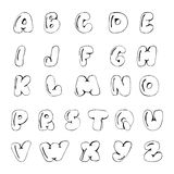 Vector hand drawn Alphabet A to Z Stock Image