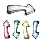 Vector hand-drawn arrow set Stock Photo