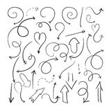 Vector hand drawn arrows Stock Photos