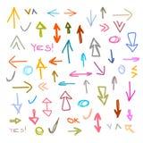 Vector Hand Drawn Arrows Set Royalty Free Stock Photo