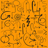 vector hand drawn arrows, set Stock Image
