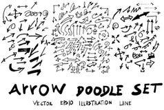 Vector hand drawn arrows set eps10 Royalty Free Stock Photo