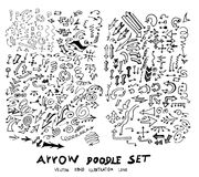 Vector hand drawn arrows set eps10 Stock Photos