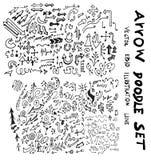 Vector hand drawn arrows set eps10 Stock Image