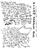 Vector hand drawn arrows set eps10 Royalty Free Stock Photography