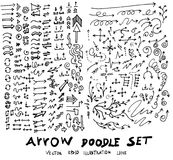 Vector hand drawn arrows set eps10 Stock Images