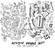 Vector hand drawn arrows set eps10 Royalty Free Stock Photos
