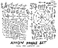 Vector hand drawn arrows set Royalty Free Stock Image