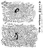 Vector hand drawn arrows set eps10 Royalty Free Stock Image