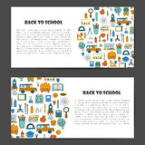 Vector hand drawn back to school background Royalty Free Stock Photos