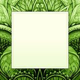 Vector hand drawn background for you eco design. Stock Image
